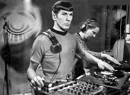 DJ Spock on the turntable