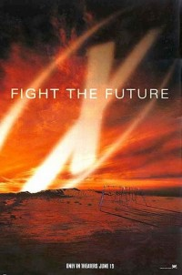 X-Files: Fight the Future movie poster art