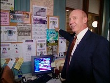 Dann Florek set tour from Law and Order: SVU: Premiere Episode
