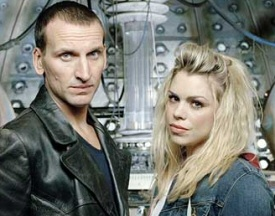 Eccleston and Piper from Doctor Who