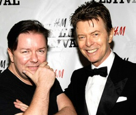 Ricky Gervais and David Bowie