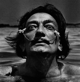 Salvador Dali in water