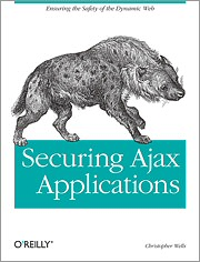 Securing Ajax Applications book cover art