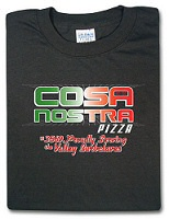 Cosa Nostra Pizza T-shirt from ThinkGeek