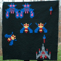 Galaga Quilt by Emily at Carolina Patchworks