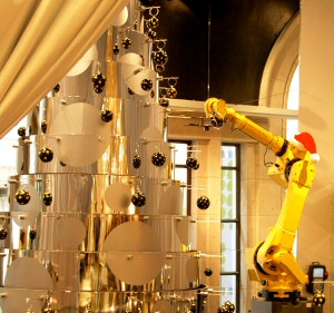 Robots Decorate the Neiman Marcus Xmas Trees