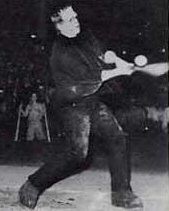 Boris Karloff as Frankenstein's Monster playing baseball
