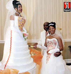 Chidi Ogbuta of Allen, Texas gets a cake that looks like her