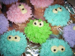 Furry Muppet Cupcakes
