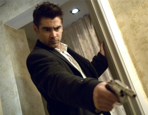 Colin Farrell with gun from In Bruges