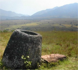 The Plain of Jars from Laos