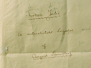 Title page of the play Fröken Julie by August Strindberg