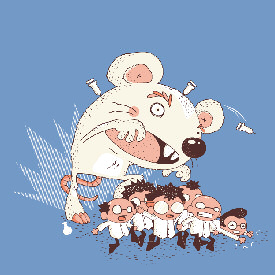 Run, Scientists, Run! Threadless
