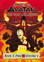 Avatar The Last Airbender Book 3: Fire Vol. 3 DVD Cover Art