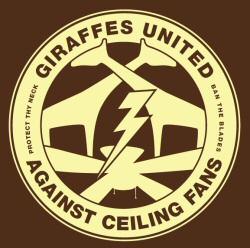 Giraffes United Against Ceiling Fans