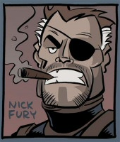 Nick Fury smoking