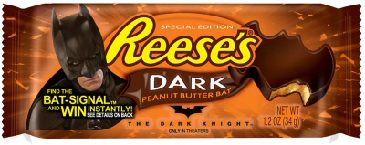 Reese's Dark Peanut Butter Bat from Dark Knight