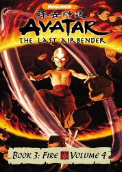 Avatar: The Last Airbender Book 3: Fire Vol. 4 DVD Cover Art