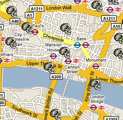 Interactive Map of London's Dead
