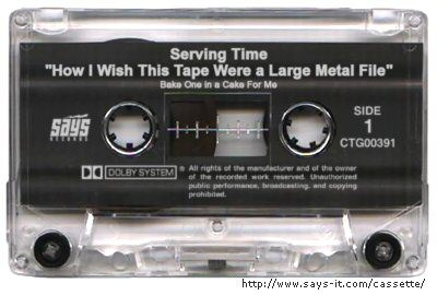 Serving Time cassette tape