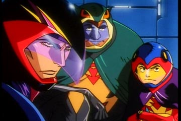 Joe, Ryu and Jinpei from Gatchaman