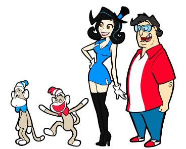 Super Rica, Rashy, Misty and Paul