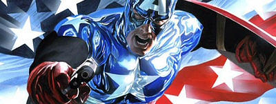 Captain America, now shiny