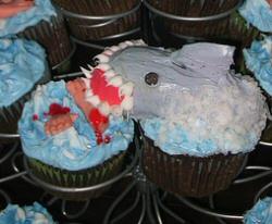 Shark cupcake!