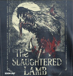 Slaughtered Lamb t-shirt design from Last Exit to Nowhere