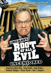 Lewis Black's Root of All Evil DVD cover art