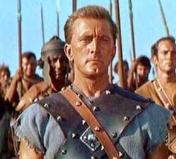 Kirk Douglas as Spartacus