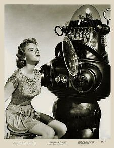 The robot from Forbidden Planet and friend