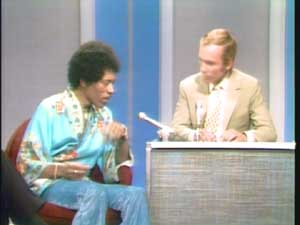 Jimi Hendrix talking with Dick Cavett