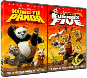 Kung Fu Panda and Secrets of the Furious Five DVD cover art