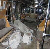 Subway in Russia plus concrete pilings
