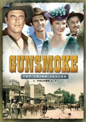 Gunsmoke: The Third Season, Vol. 1 DVD cover art