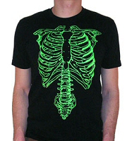 Nigel Tufnel from Spinal Tap: Green Skeleton T-Shirt