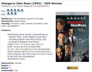 Glengarry Glen Ross review top example