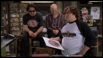 John Cusack, Todd Luiso and Jack Black from High Fidelity