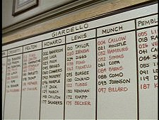 Whiteboard from Homicide: Life on the Street