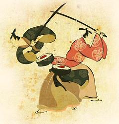 Samurai Sushi from Threadless