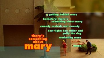 There's Something About Mary DVD menu