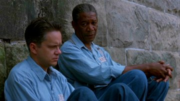 Tim Robbins and Morgan Freeman from The Shawshank Redemption