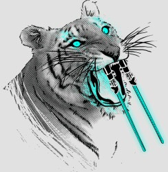 Threadless: Lightsaber-toothed tiger