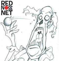Zombie Clown original sketch for Red Nose Net