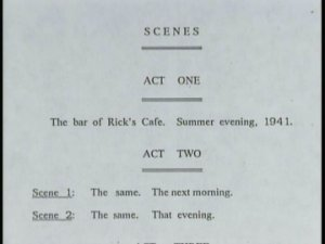 A page from the original play, Everybody Comes to Rick's
