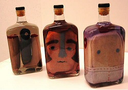 David Huyck: plush in bottles