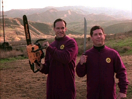 Diedrich Bader and Chris Parnell from Evil Alien Conquerors