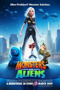 Monsters vs. Aliens poster art