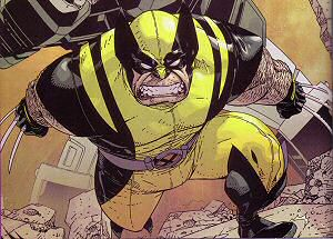 Wolverine, looking very bloated